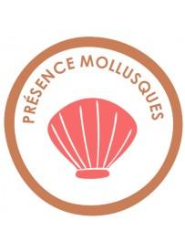 Sticker présence allergène mollusques