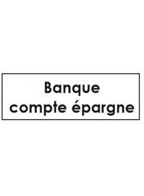 Sticker banque compte épargne classement administratif