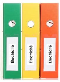 Sticker électricité classement administratif