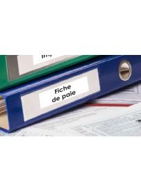 Sticker paie classement administratif