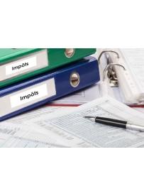 Sticker impôts classement administratif