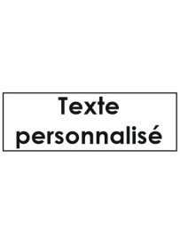 Sticker texte personnalisé porte clé étiquette