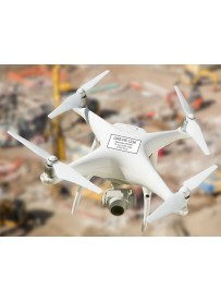 Sticker immatriculation drone blanc