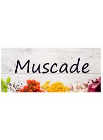 Étiquette Muscade pots et bocaux