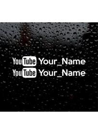 Étiquette logo Youtube personnalisé