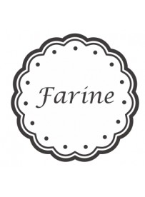 Étiquette Farine pots et bocaux
