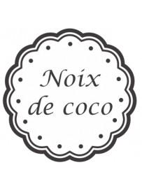 Étiquette Noix de coco pots et bocaux