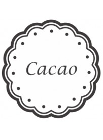 Étiquette Cacao pots et bocaux