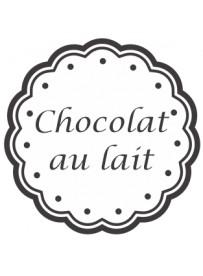 Étiquette Chocolat au lait pots et bocaux
