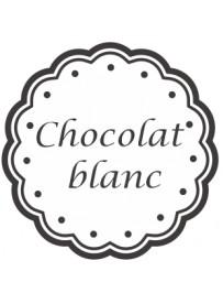 Étiquette Chocolat blanc pots et bocaux