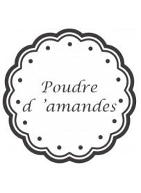 Étiquette Poudre d'amande pots et bocaux