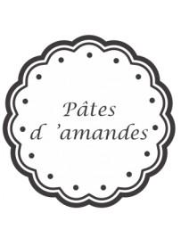 Étiquette Pâte d'amandes pots et bocaux