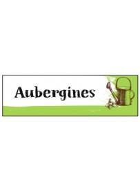 Étiquette Aubergine graine potager
