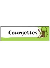 Étiquette Courgette graine potager