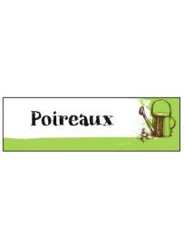 Étiquette Poireau graine potager