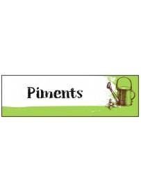 Étiquette Piment graine potager