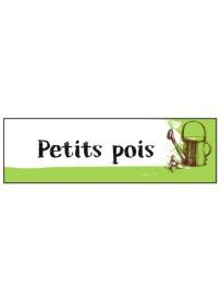 Étiquette Petit Pois graine  potager