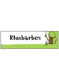 Étiquette Rhubarbe graine potager
