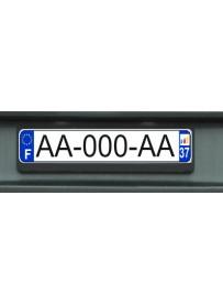 Étiquette adhésive plaque auto association