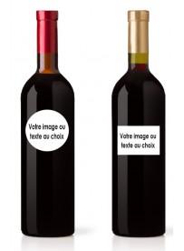 Étiquette adhésive bouteille