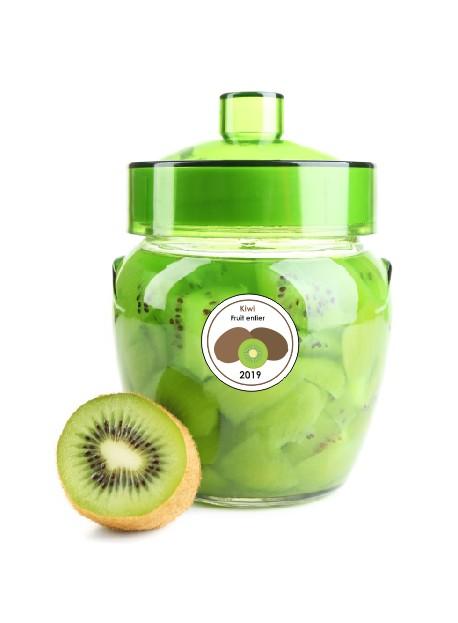 Etiquette Kiwi pot et bocal en verre