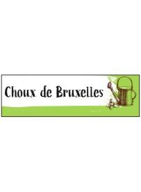 Étiquette Choux de Bruxelles graine potager
