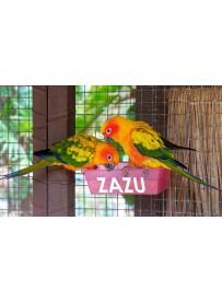 Sticker prénom mangeoire oiseau