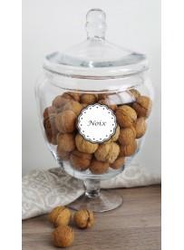 Étiquette Noix pots et bocaux