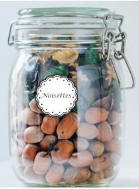 Étiquette Noisettes pots et bocaux