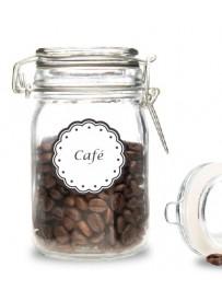 Étiquette Café pots et bocaux