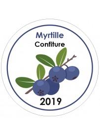 Étiquette Myrtille pot et bocal en verre