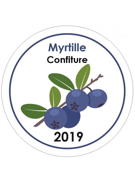 Etiquette Myrtille pot et bocal en verre