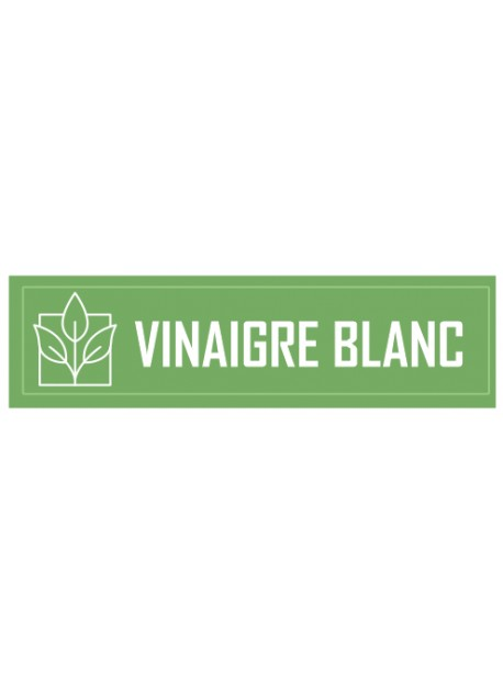 Étiquette vinaigre blanc