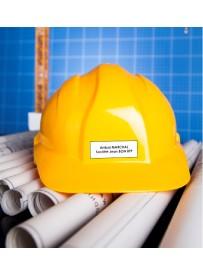 Étiquette casque chantier personnalisée