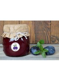 Étiquette Prune pot et bocal en verre