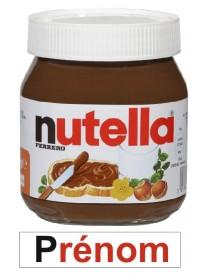 Étiquette pot nutella personnalisée prénom