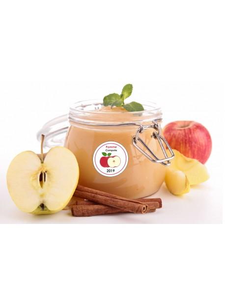 Etiquette Pomme  pot et bocal en verre