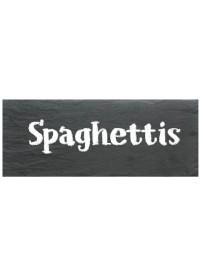 Etiquette spaghettis pot et bocal en verre