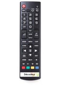 Étiquette télécommande décodeur TV