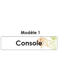 Étiquette télécommande console