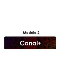 Étiquette télécommande Canal+