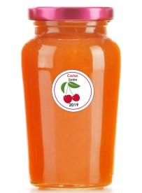 Étiquette Cerise pot et bocal en verre