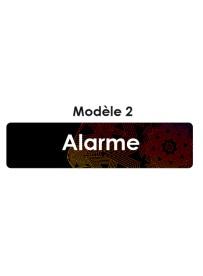 Étiquette télécommande alarme