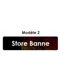 Étiquette télécommande Store Banne