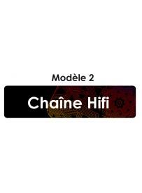 Étiquette télécommande chaîne Hifi