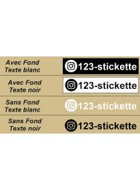 Étiquette logo instagram personnalisée