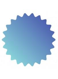 Étiquette prix bleu clair