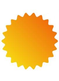 Étiquette prix orange