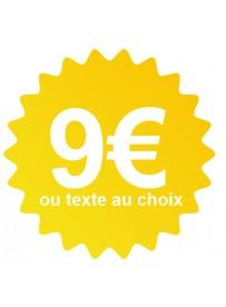 Étiquette prix jaune