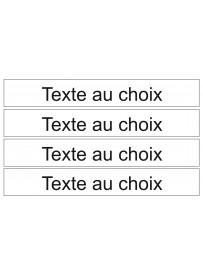 Étiquette texte personnalisé